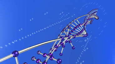 3D DNA string & particles Animation