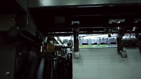 Offset printing process Stock Video Footage