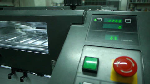 Offset printing sequence Stock Video Footage