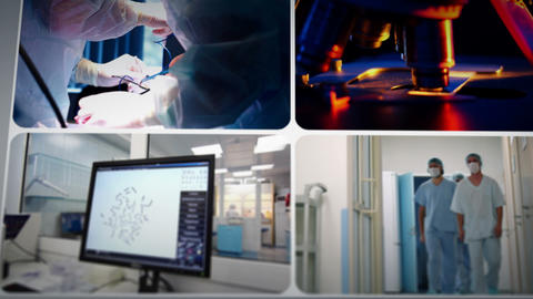 Science And Medicine Montage stock footage