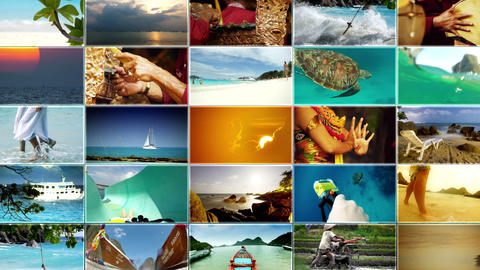 Vacation  And   Travel  Montage  3 stock footage