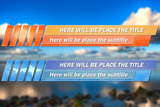 Lower Thirds Pack - 8 Different Models stock footage