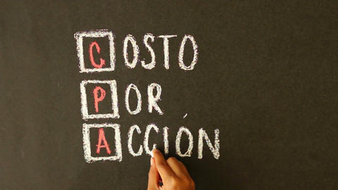 Cost Per Action Chalk Drawing Stock Video Footage
