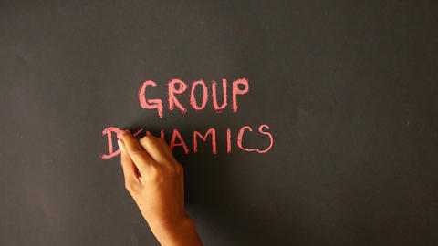 Group Dynamics Chalk Drawing Stock Video Footage