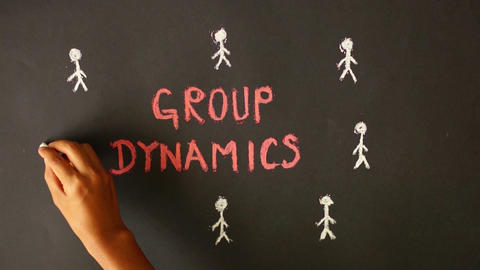 Group Dynamics Chalk Drawing Footage