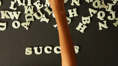 A person spelling Success Stock Video Footage