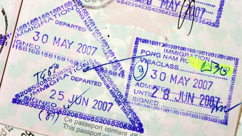 Passport International Travel Stock Video Footage