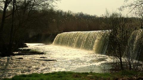 Waterfall on the River Mountain Tikich. Buki village,... Stock Video Footage