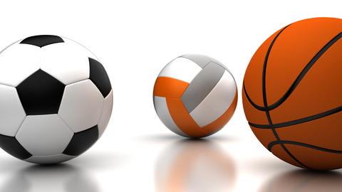 Football, Basketball and Volleyball Animation