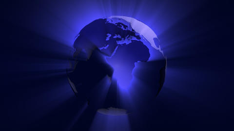 Shiny Globe stock footage