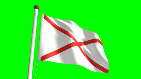 Alabama flag Stock Video Footage