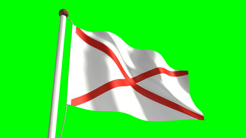 Alabama flag Animation