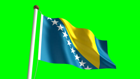 Bosnia and Herzegovina flag Animation
