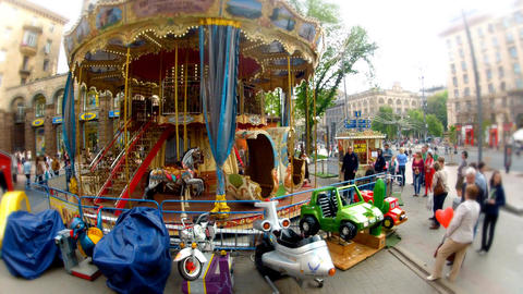 Carousel In The Street stock footage