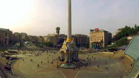 Independence Square in Kyiv Footage