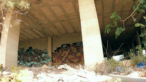 Architecture graffiti wall artwork Stock Video Footage