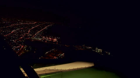 Night flight Stock Video Footage