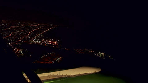 Night flight Footage