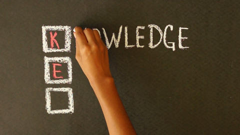 Knowledge Empowers You Chalk Drawing Stock Video Footage