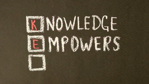 Knowledge Empowers You Chalk Drawing Footage