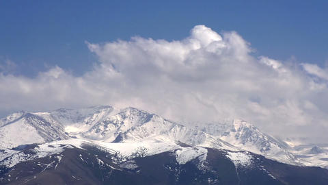 Mountain Peaks in the Clouds Stock Video Footage
