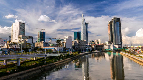 HCMC City Skyline - Timelapse Stock Video Footage