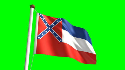 Mississippi flag Stock Video Footage