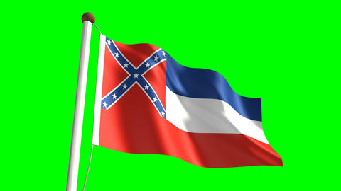 Mississippi Flag stock footage