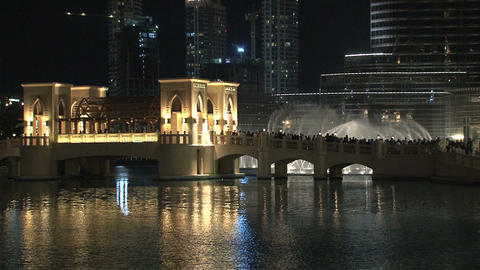 Dubai fountain Footage