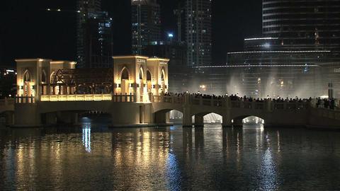 Dubai fountain Stock Video Footage