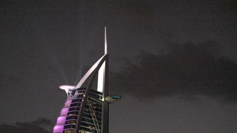 Top of the Burj al Arab hotel Stock Video Footage