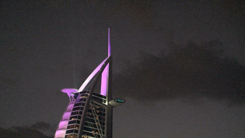 Top of the Burj al Arab hotel Footage