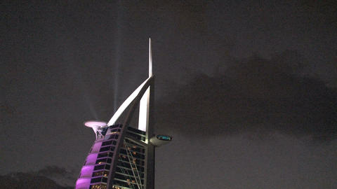 Top of the Burj al Arab hotel Stock Video Footage