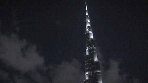 Burj khalifa pan tilt Stock Video Footage