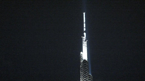 Burj khalifa tilt Stock Video Footage