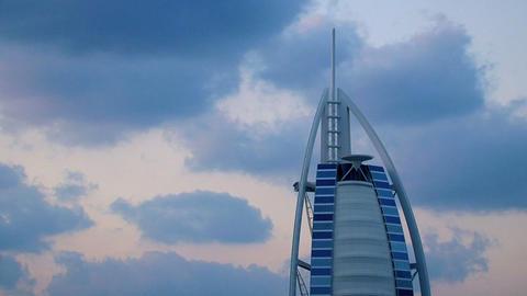 Burj al Arab hotel, Dubai Footage