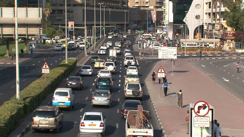 Downtown traffic in Dubai Footage
