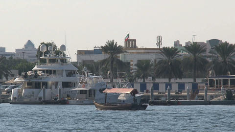 little ferry passing by Stock Video Footage
