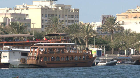 Traditional boat and ferry Stock Video Footage