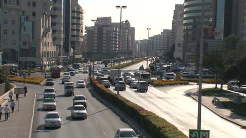 Dubai traffic Stock Video Footage
