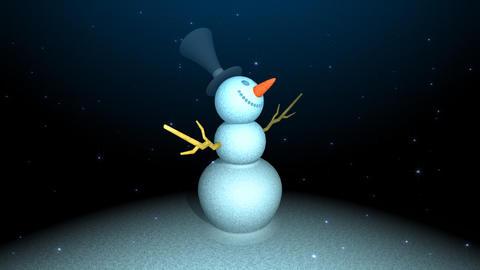 I observe a snowman CG動画素材