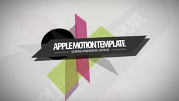 Geometric Opener Apple Motion Project