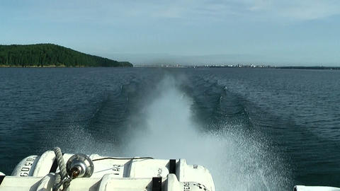 rapid moving hydrofoil vessel Footage