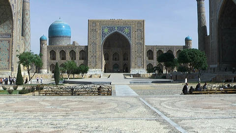 Registan Square in Samarkand Stock Video Footage