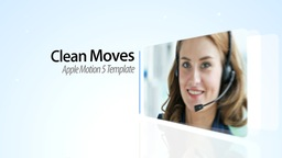 Clean Moves - Apple Motion and Final Cut Pro X Template Apple-Motion-Projekt
