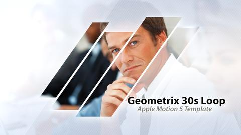 Geometrix 30s Loop Presentation - Apple Motion and Final Cut Pro X Template Apple Motion Template
