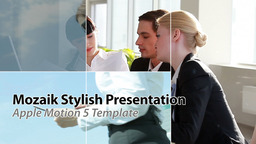Mosaic Stylish Presentation - Apple Motion and Final Cut Pro X Template Apple Motionテンプレート