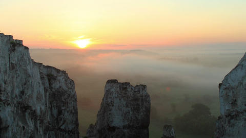 Timelapse Sunrise In The Mountains. Village Belokuzminovka, Donetsk Region, Ukraine stock footage