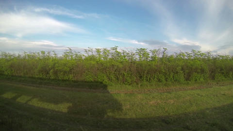 View from train Window, full HD video Stock Video Footage