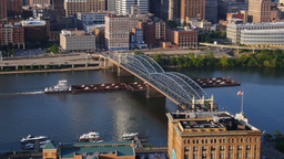 Pittsburgh Coal Barge Stock Video Footage